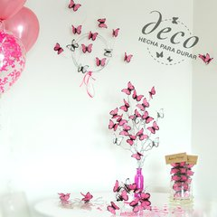 Kit para decoracion de Candy Bar de mariposas Rosas Baby Shower