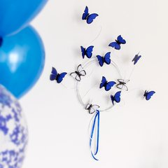 Imagen de Kit para decoracion de Candy Bar de mariposas Azules Bat Mitzvah