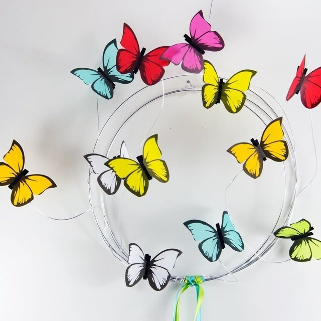 Corona de Mariposas: Plateado - Colores a eleccion o Multicolor en internet
