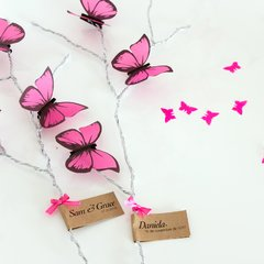 Kit para decoracion de Candy Bar de mariposas Rosas Baby Shower - tienda online