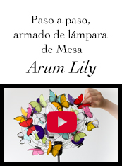 instructivo lampara de mariposas ArumLily
