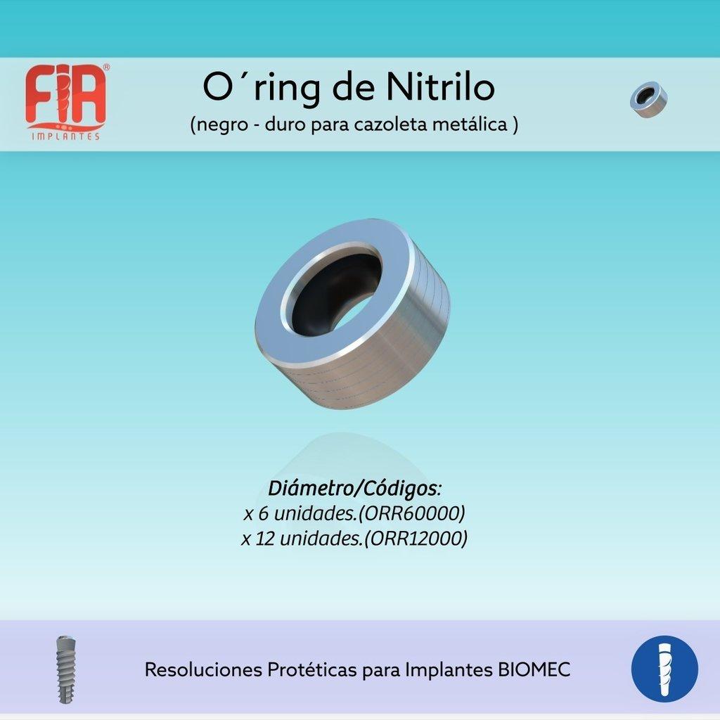O-Ring de Nitrilo negro Duro para cazoleta metálica x 12 Unidades