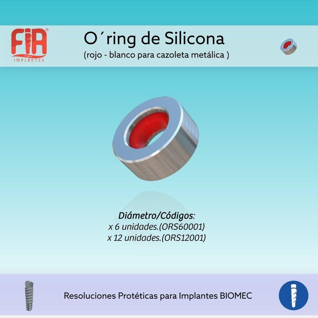 O-Ring de Silicona rojo Blando para cazoleta metálica x 12U