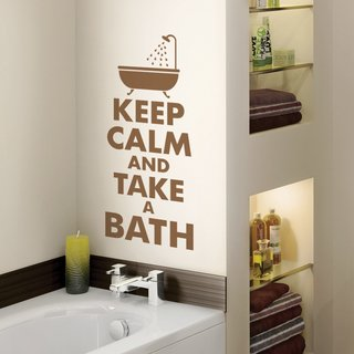 Looma Vinilos Decorativos Baño Keep Calm and Take a Bath