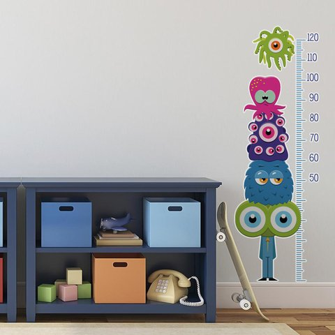 Looma Vinilos Decorativos Infantiles Medidor Monsters