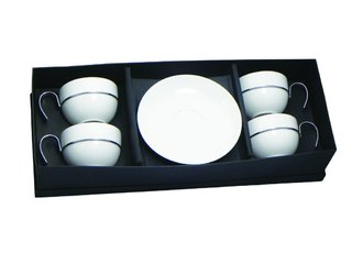 Set x 4 pocillo+plato Aro Red, grande