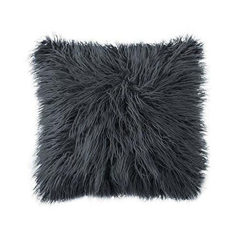 Cojín Black Furry - Del Pozo Decor