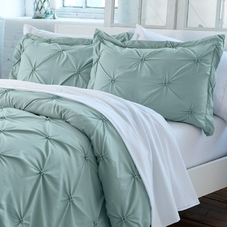 Duvet cover pinzado Verde Pastel Queen o King