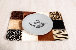 Set x 2 individuales en cuero - Estampados - African Leather