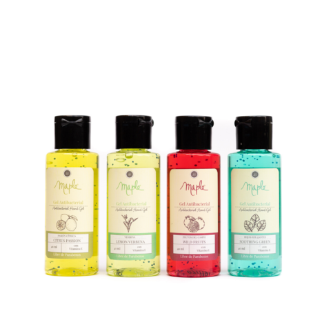 Set x 4 Gel antibacterial 40ml -frutos del campo - Maple