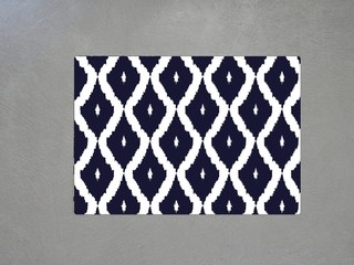 Set x 2 Individuales en MDF - estampado Ikat azul - Placement