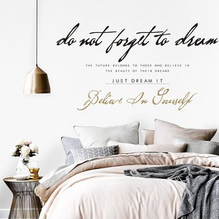 Vinilo decorativo Just Dream it , Medida Small  80 x 45 cm (Aprox) , Medida Large 150 x 80 cm