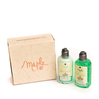 Kit: 2 Crema humectante 90ml + 2 Jabón líquido 90ml - Maple