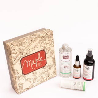 Kit: Serum vitamina C + Contorno de ojos + Mist facial+ Agua Micelar- Maple