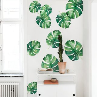 Vinilo Monstera large en tonos verdes