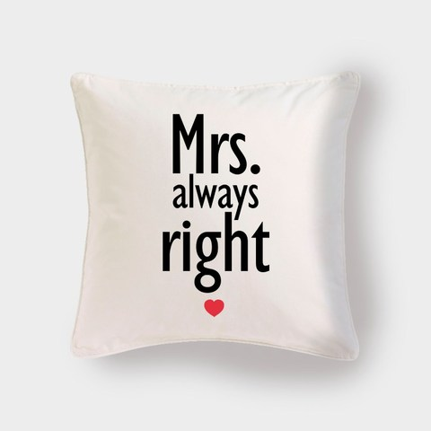 Cojín Mrs. always Right - escoge el color - Pilou