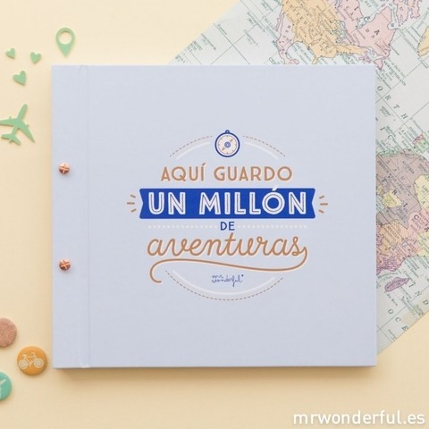 Álbum - Aquí guardo un millón de aventuras - Mr. Wonderful - comprar online