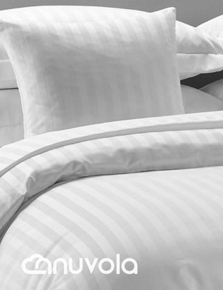Duvet cover 300 hilos blanco, Queen - Nuvola