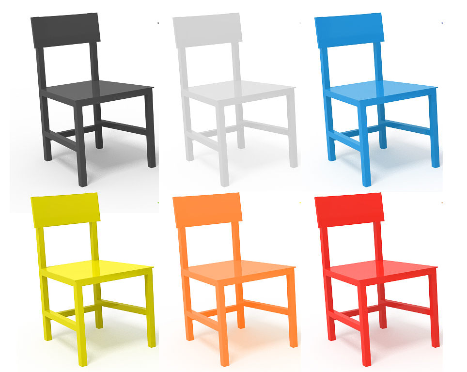 Silla terna para comedor en Poliuretano - escoge el color - Perceptual