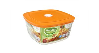 Set x 3 Recipientes Facilita tapa naranja - 1 Litro - Marinex