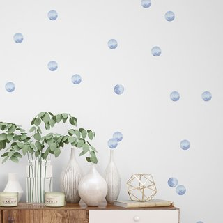 Mini Vinilo Soft Blue Watercolor Dots Incluye:  48 puntos 6 cm x 6 cm (aprox)