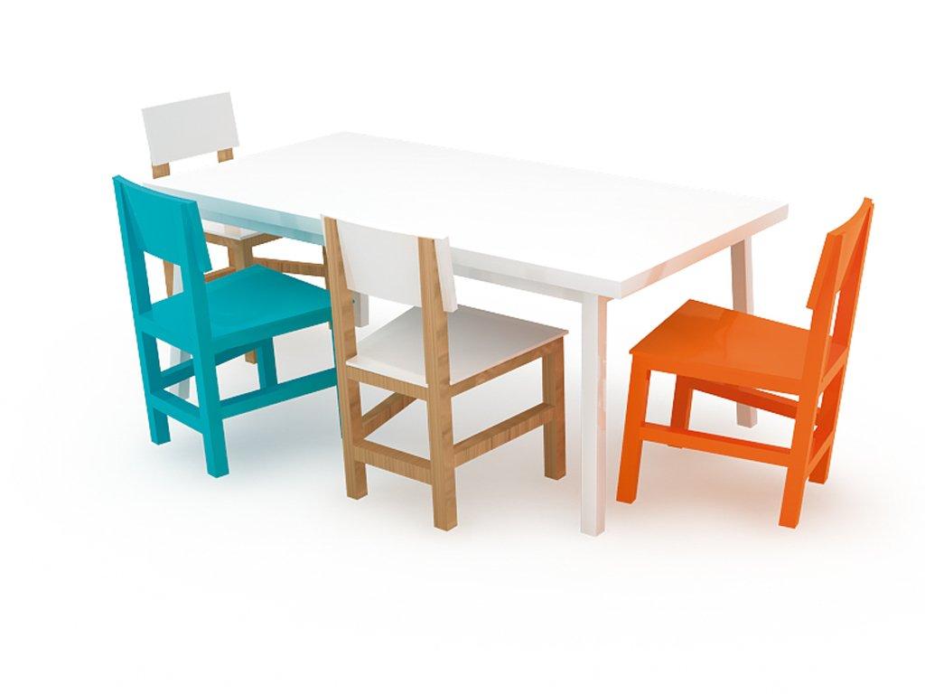 Silla terna para comedor en poliuretano tienda toplist for Comedor sillas colores