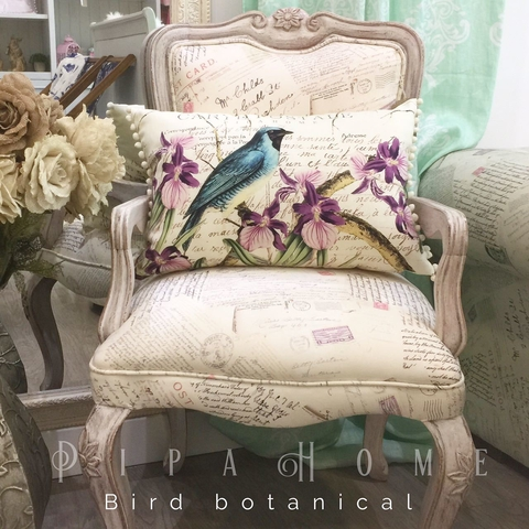 Cojín Bird Botanical - rectangular - Pipa Home - comprar online