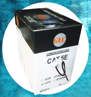 Cable Utp Glc Doble Vaina Exterior Color Negro Cat 5e 305 Mt