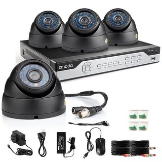 kit Zmodo HD 8 Ch 960H 4Cámara CCD sony  600TVL  Ext/int Compatible MAC