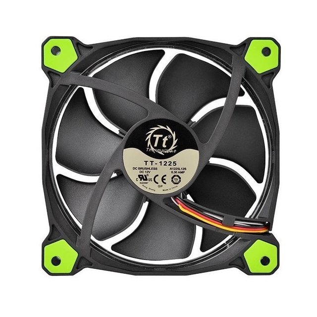 FAN TT RIING 12 RADIATOR FAN LED 1500RPM CL-F038-PL12GR-A - loja online