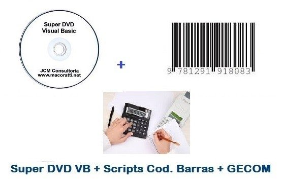 Super DVD VB + GECOM + Scripts para Cod. Barras