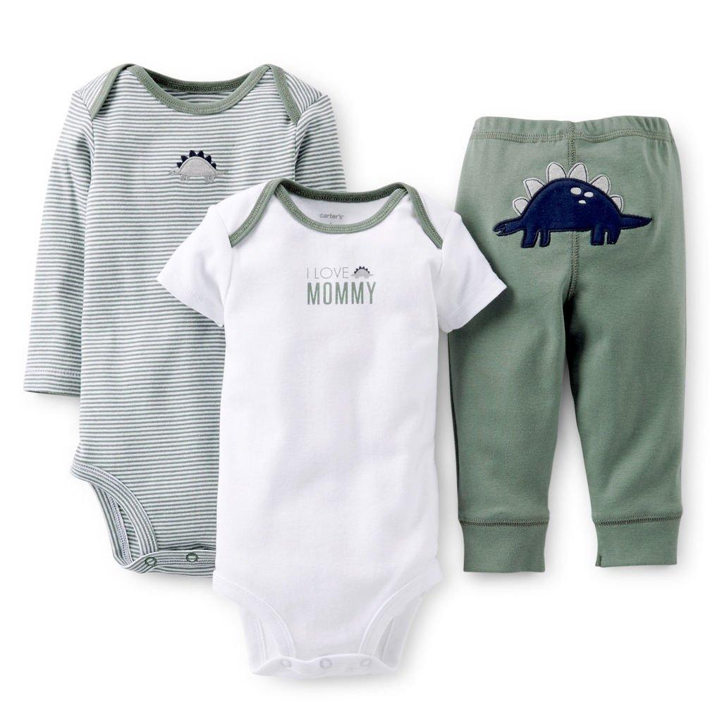 06d6b2ea265 Ropa carters para bebe - Conjunto 3 Piezas Bodies pantalón dinosaurio
