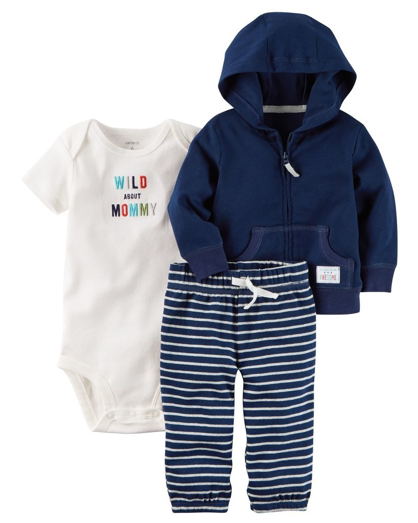 6efdf6d2a Ropa carters para bebe - Conjunto 3 Piezas Chaqueta y pantalon azul oscuro  y body