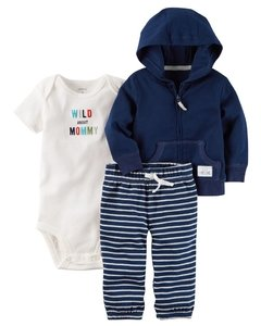 6a235b6a86 Ropa carters para bebe - Conjunto 3 Piezas Chaqueta y pantalon azul oscuro  y body