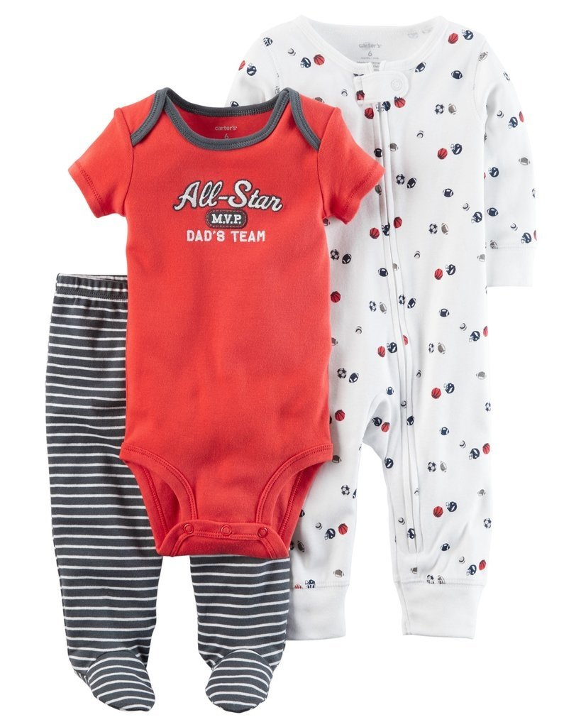 4c76f2602 Ropa carters para bebe - Conjunto 3 Piezas Pijama balones