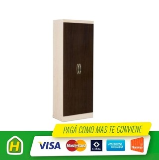 PLACARD 2 PTAS R2RO6204 CHOCO/MAPLE MUEBLES MAXIMO