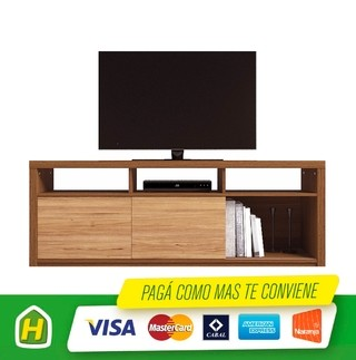 RACK TV2 1,80M VENECIA TECA/ROBLE NATURAL 32524