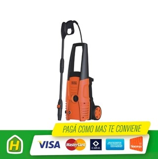 HIDROLAVADORA BLACK&DECKER PW1300SW 100BAR 1300W RUEDA