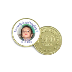 Moneda de Chocolate - con foto