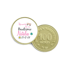 Moneda de Chocolate - frases