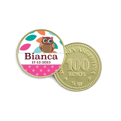 Moneda de Chocolate lechuza