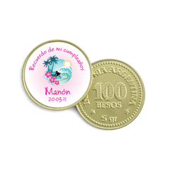 Moneda de Chocolate surf