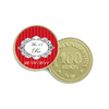 Moneda de Chocolate - vintage red