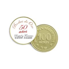 Moneda de Chocolate - Aniversario