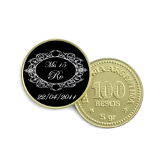 Moneda de Chocolate - vintage black