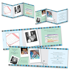 Plegable con calendario y fotos