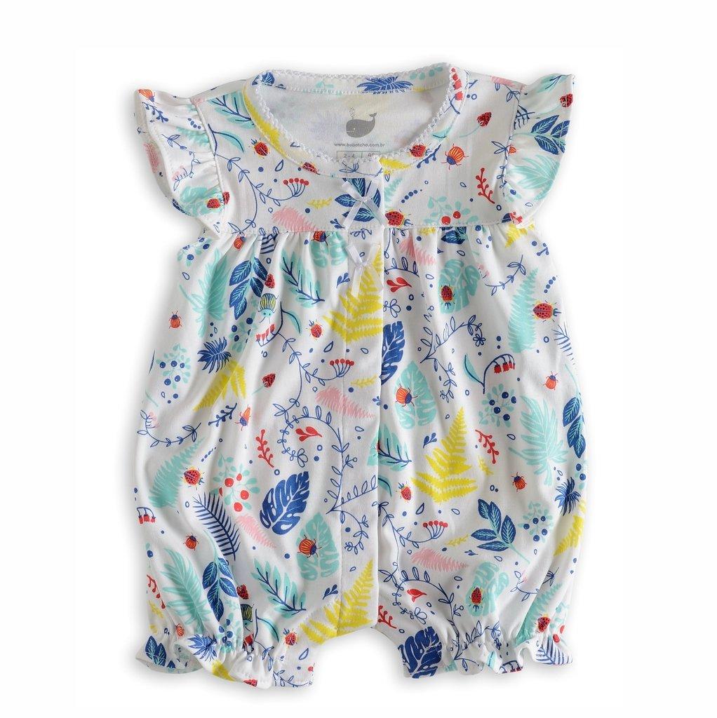 a953d6f2a Macaquinho Bebê Tropical em algodão pima peruano e design Bobotchô
