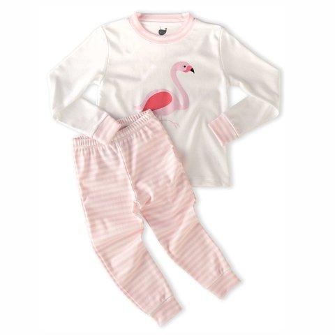 e4fff0bdf Pijama Flamingo camiseta manga longa + calça - comprar online