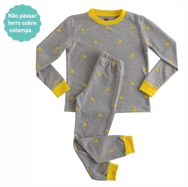 8bc2093be Pijama Estrelas calça + blusa manga longa - comprar online