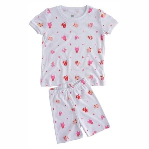 Pijama Little Friends blusa manga curta + short